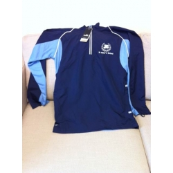 Navy and Sky Training Top with School Crest 13yrs